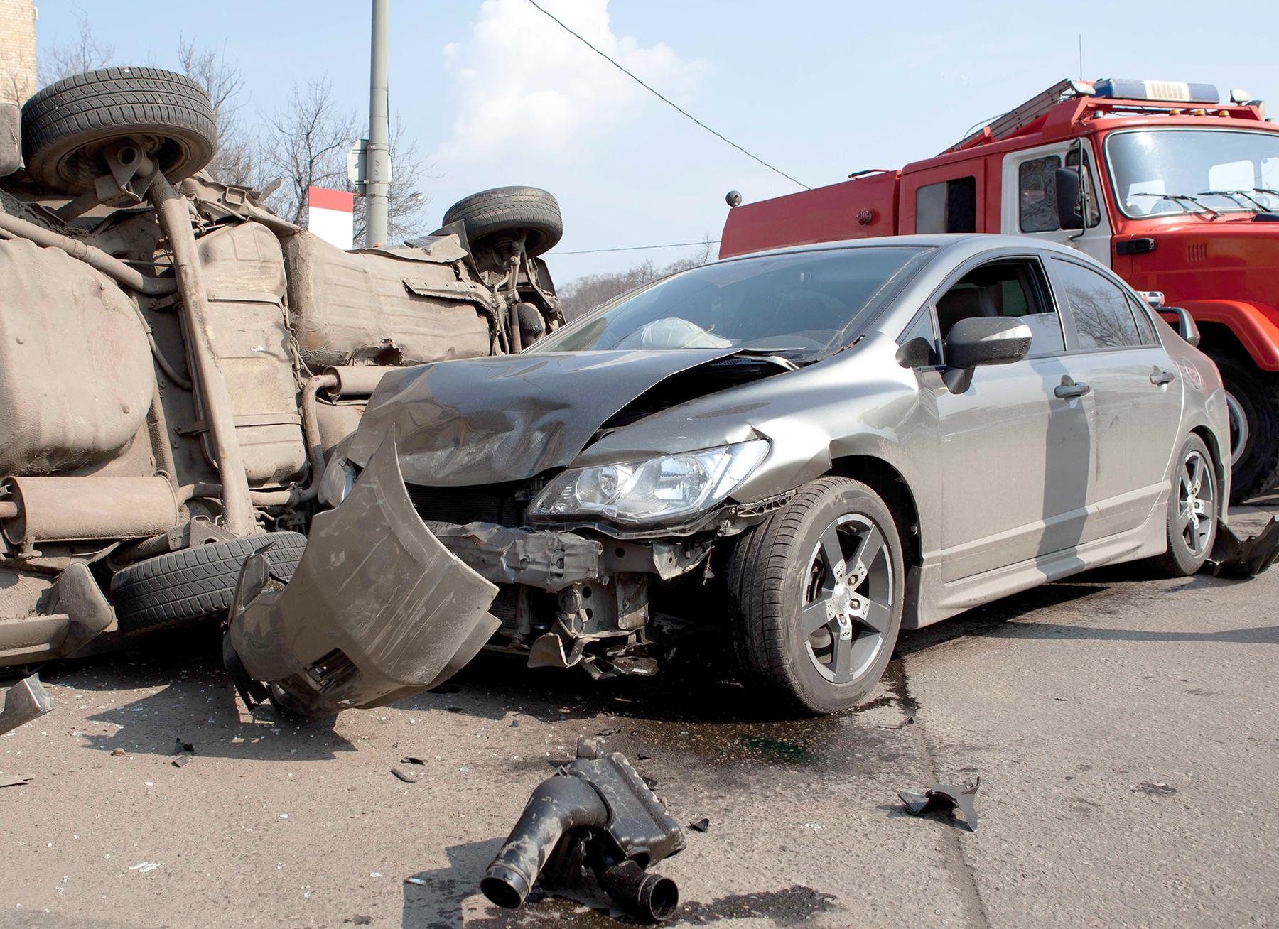 Overturned Vehicle
